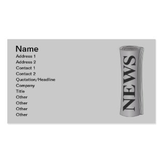 einfache_zeitung_Vector_Clipart Double-Sided Standard Business Cards (Pack Of 100)