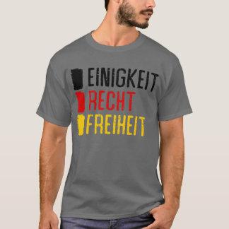 Einigkeit Recht Freiheit Germany Motto Tee Shirt