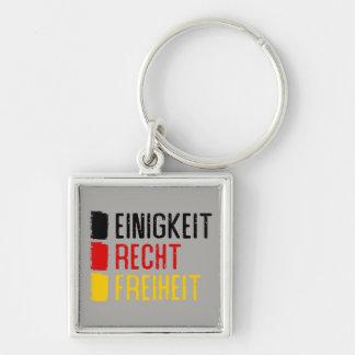 Einigkeit Recht Freiheit Keyring, German Motto Keychain