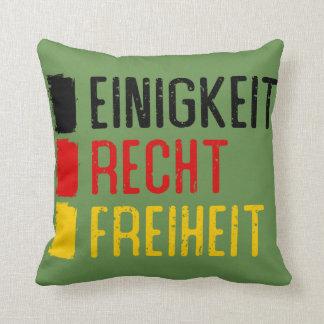 Einigkeit Recht Freiheit Pillow, German Motto Throw Pillow