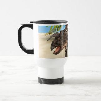 Einiosaurus del dinosaurio taza de viaje de acero inoxidable