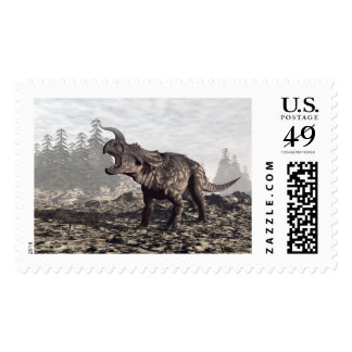 Einiosaurus dinosaur - 3D render Postage