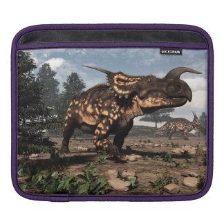 Einiosaurus dinosaurs in the desert - 3D render Sleeve For iPads