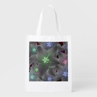 Einkaufstasche azucenas multicolores de floral bolsa para la compra