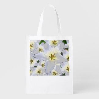 Einkaufstasche con modelo de flor prácticamente -  bolsas para la compra