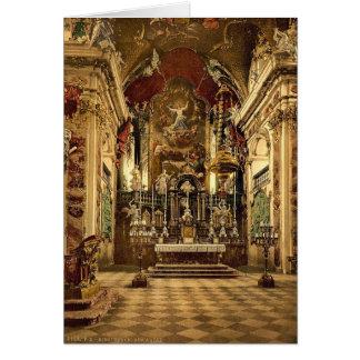 Einsiedeln el altar en la iglesia del Pilgrams L Felicitación
