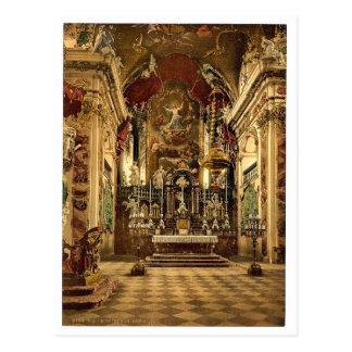Einsiedeln el altar en la iglesia del Pilgrams L Postal