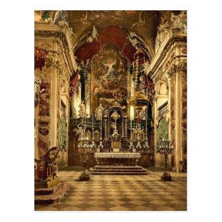 Einsiedeln el altar en la iglesia del Pilgrams L Postales