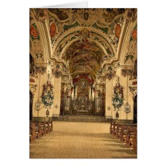 Einsiedeln interior de la iglesia lago Alfalfa Tarjeta