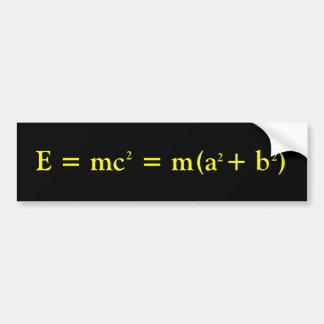 Einstein and Pythagoras Car Bumper Sticker