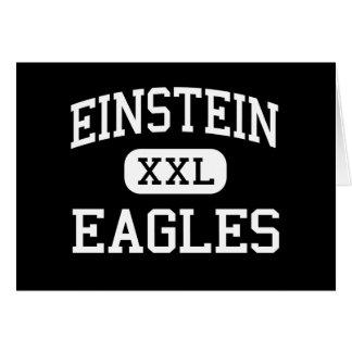 Einstein - Eagles - joven - Appleton Wisconsin Tarjeta De Felicitación