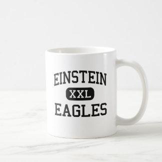 Einstein - Eagles - joven - Appleton Wisconsin Taza Básica Blanca