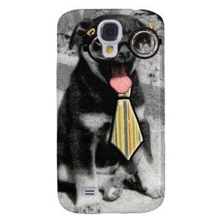 Einstein es un perro de perrito negro elegante