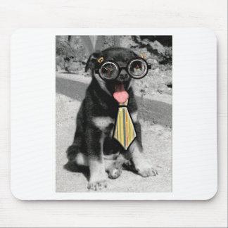Einstein es un perro de perrito negro elegante alfombrilla de ratón