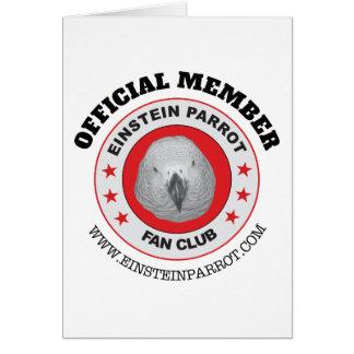 Einstein Parrot African Grey Parrot Fan Club Logo Card