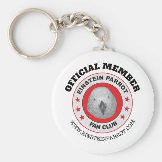 Einstein Parrot African Grey Parrot Fan Club Logo Keychain