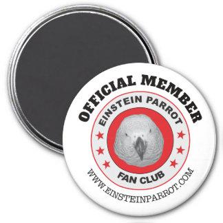 Einstein Parrot Fan Club Logo Magnet