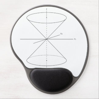 Einstein special relativity time travel dual-cone gel mouse pad