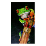 Einstein the Red-Eyed Tree Frog Business Cards