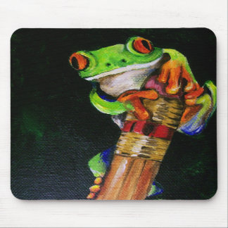 Einstein the Red-Eyed Tree Frog Mousepad