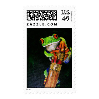 Einstein the Red-Eyed Tree Frog Stamps