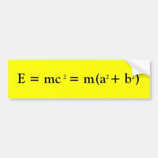 Einstein y Pitágoras Pegatina Para Auto