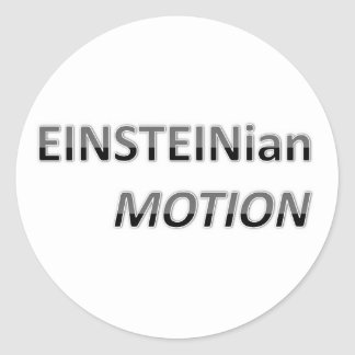 EINSTEINian Motion Classic Round Sticker