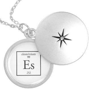 Einsteinium Round Locket Necklace