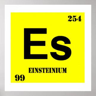 Einsteinium Posters