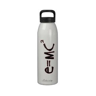 Einstein's Equation Water Bottles