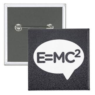 Einsteins Sign 2 Inch Square Button
