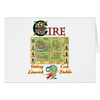 Eire Cities Map Card