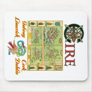 Eire Cities Map Mouse Pad