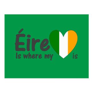 Éire es donde está irlandés mi corazón tarjetas postales