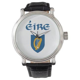 EIRE + Escudo de armas Reloj De Mano