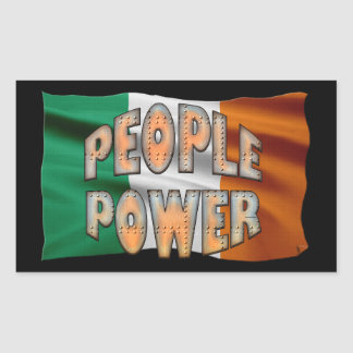 EIRE FLAG People Power Independence Motivation Rectangular Sticker