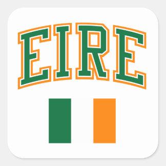 EIRE + Flag Square Sticker
