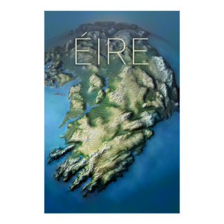 EIRE globe Poster