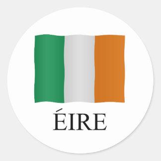 Eire - Ireland + flag Classic Round Sticker