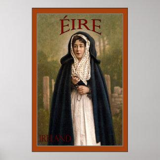 Éire ~ Ireland ~ Vintage Travel Poster