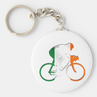 Eire Irish cycling flag of Ireland bicycle gear Basic Round Button Keychain