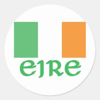 EIRE Irish Flag Classic Round Sticker