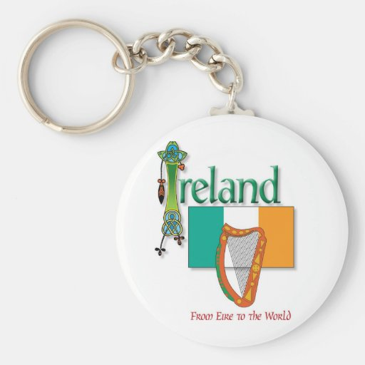 Eire To The World Key Chains