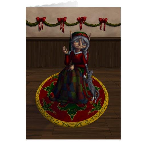 Eirene the Quilt Elf Card