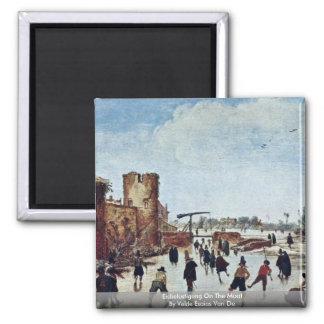 Eisbelustigung On The Moat By Velde Esaias Van De Refrigerator Magnet