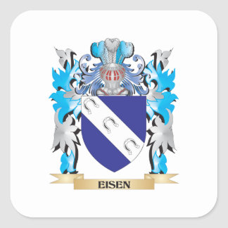 Eisen Coat of Arms - Family Crest Square Sticker