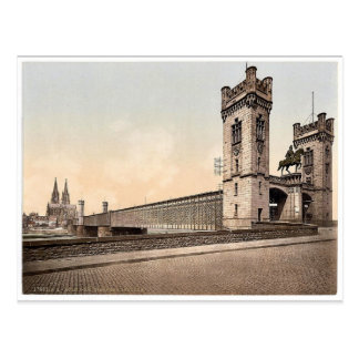 Eisenbahn Bridge, Cologne, the Rhine, Germany clas Postcard