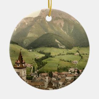 Eisenerz, Styria, Austria Double-Sided Ceramic Round Christmas Ornament