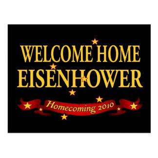 Eisenhower casero agradable postal