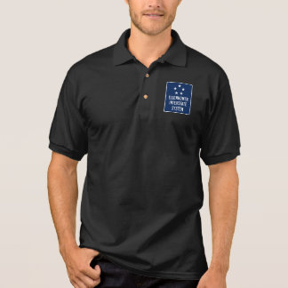 Eisenhower Interstate System Sign, USA Polo Shirt